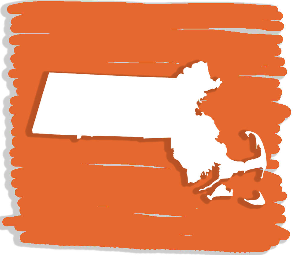 The shape of the state of Massachusetts
