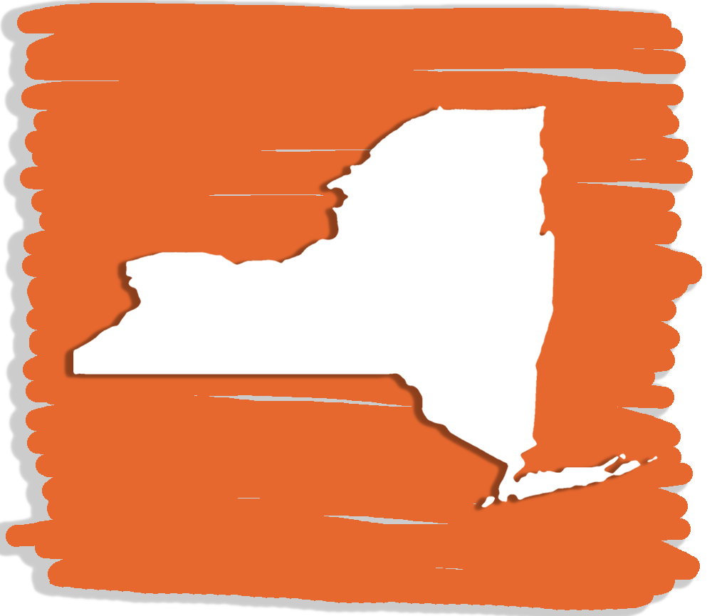 The shape of the state of New York