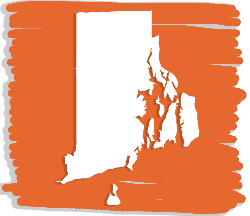 The shape of the state of Rhode Island