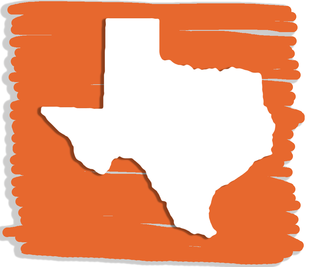 The shape of the state of Texas
